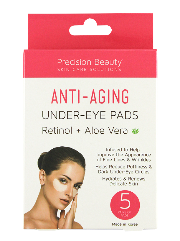 5 PAIR KOREAN UNDER-EYE PADS, RETINOL & ALOE VERA