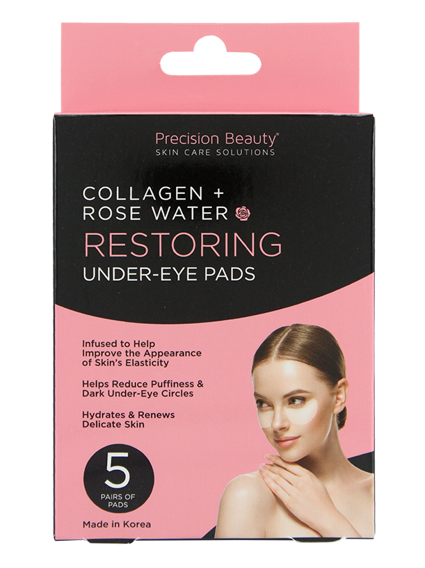 5 PAIR UNDER-EYE PADS, ROSE WATER & COLLAGEN