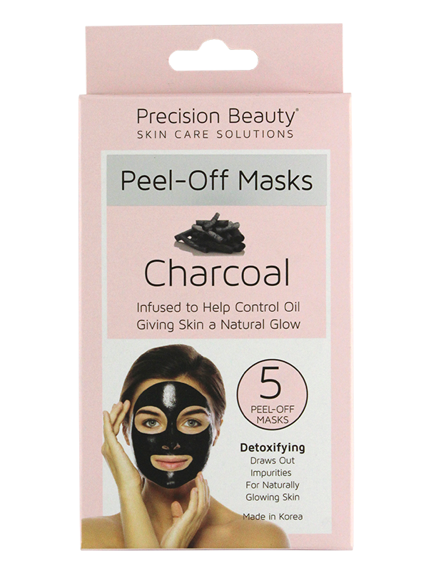Precision Beauty 5 Pack Charcoal Peel Off Mask (Pastel)