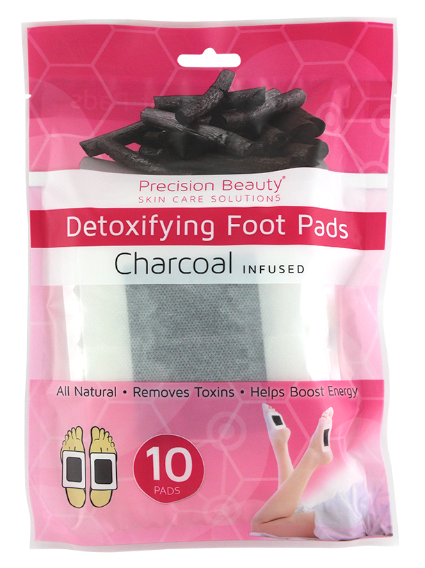 Precision Beauty 10pc Foot Detox Pads Charcoal