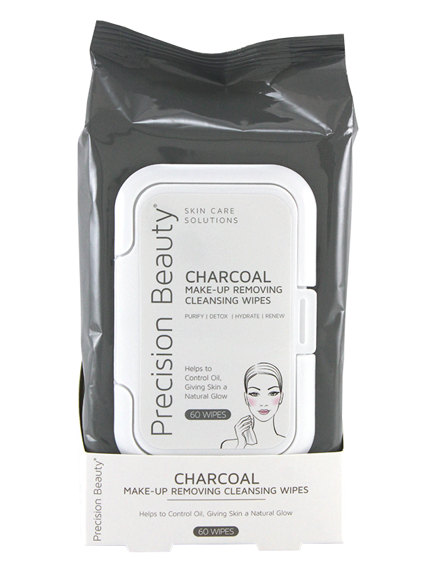 Precision Beauty Make Up Removing Cleansing Wipes, Charcoal 60ct (Modern)