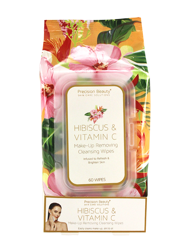 MAKE UP REMOVING CLEANSING WIPES, HIBISCUS & VITAMIN C 60CT