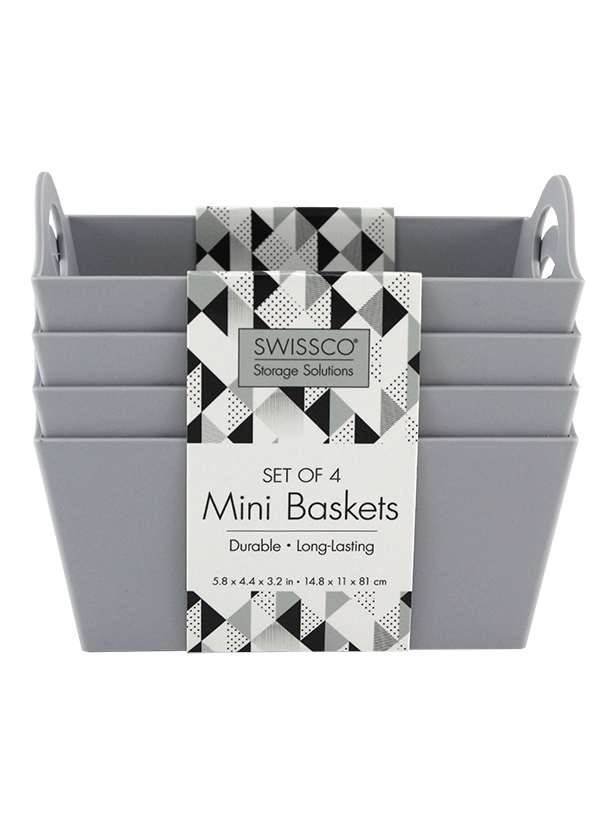 4PK MINI BASKETS
