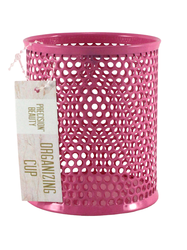 Small Cup Organizer Dots Pattern Light Pink