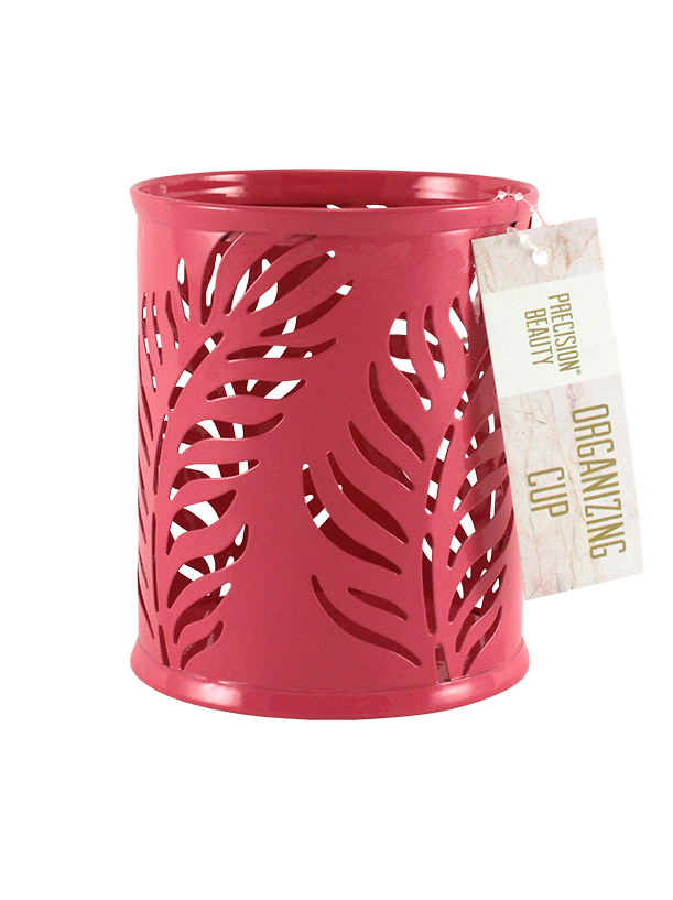 Small Cup Organizer Palm Pattern Pink