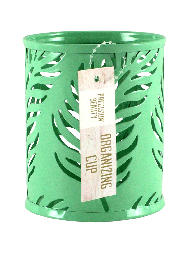 Small Cup Organizer Palm Pattern Green