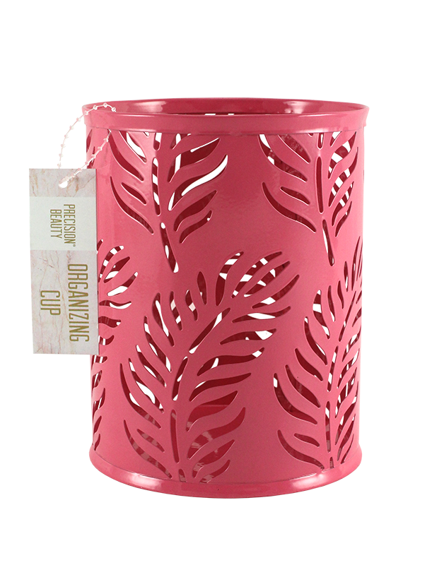 Large Cup Organizer Palm Pattern Pink