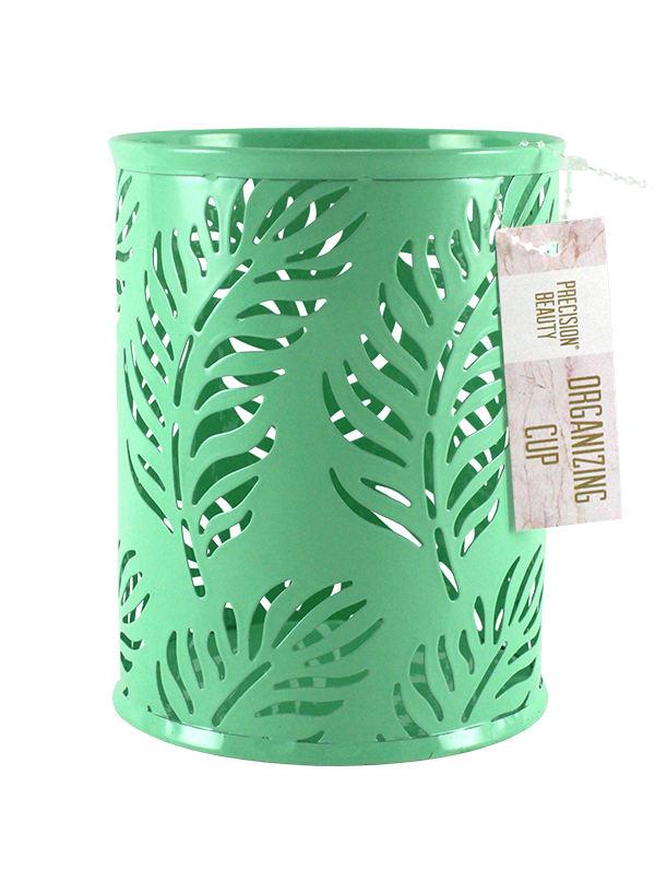 Large Cup Organizer Palm Pattern Green