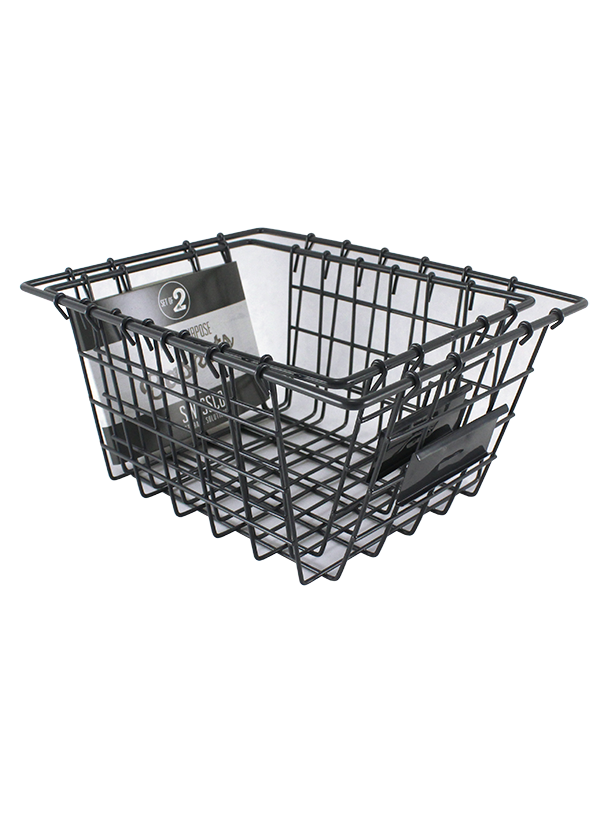 2PC WIRE METAL BASKET ORGANIZER