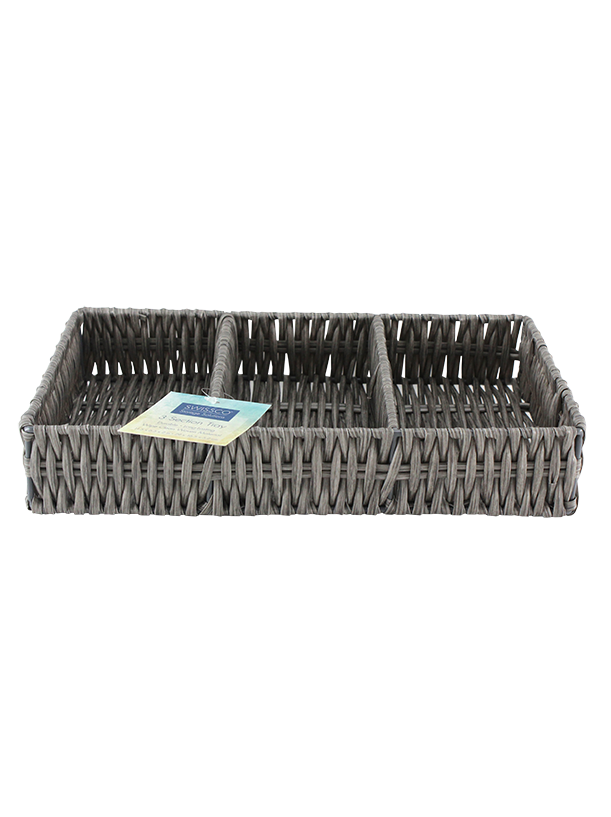 LARGE 3 SECTION PLASTIC ORGANIZER