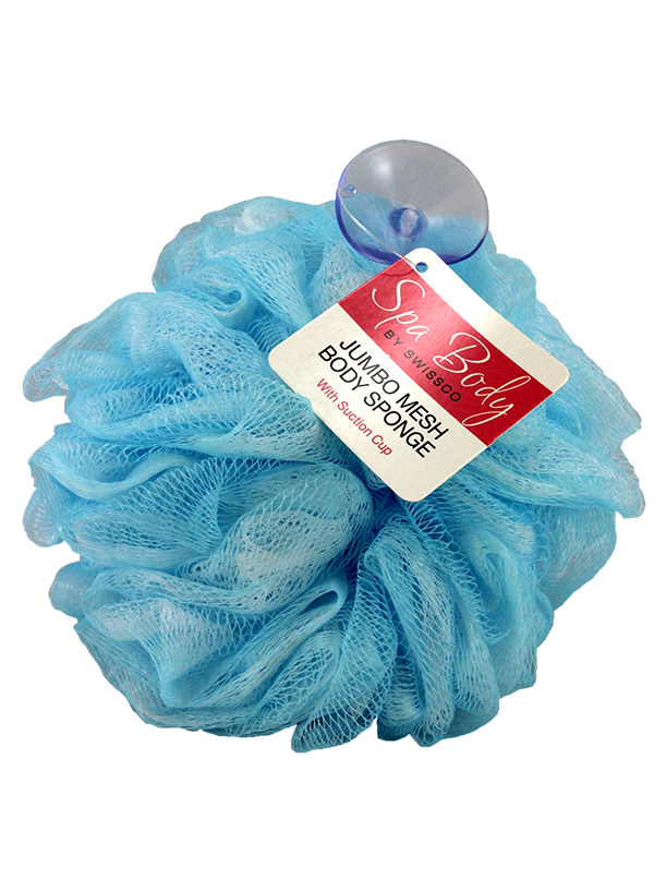 Jumbo Mesh Body Sponge w/Suction Cup