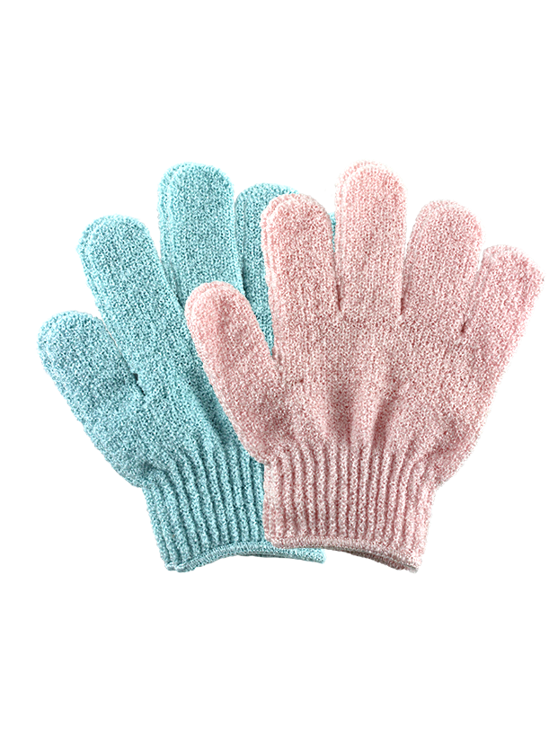 EXFOLIATING BATH & SHOWER GLOVES