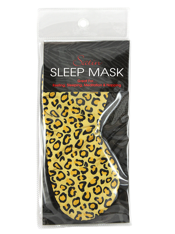 Satin Sleep Mask Leopard or Zebra Print