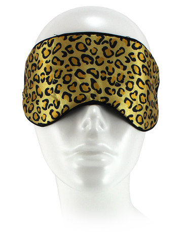 Satin Sleep Mask Leopard Print