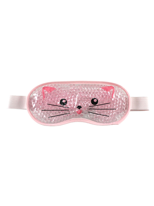 GEL EYE MASK LARGE PINK CAT