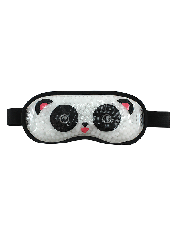 GEL EYE MASK LARGE BLACK AND WHITE PANDA