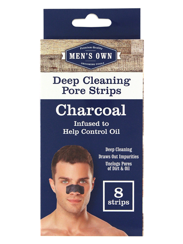 Men's Own 8 Pack Deep Cleansing Pore Strips Charcoal