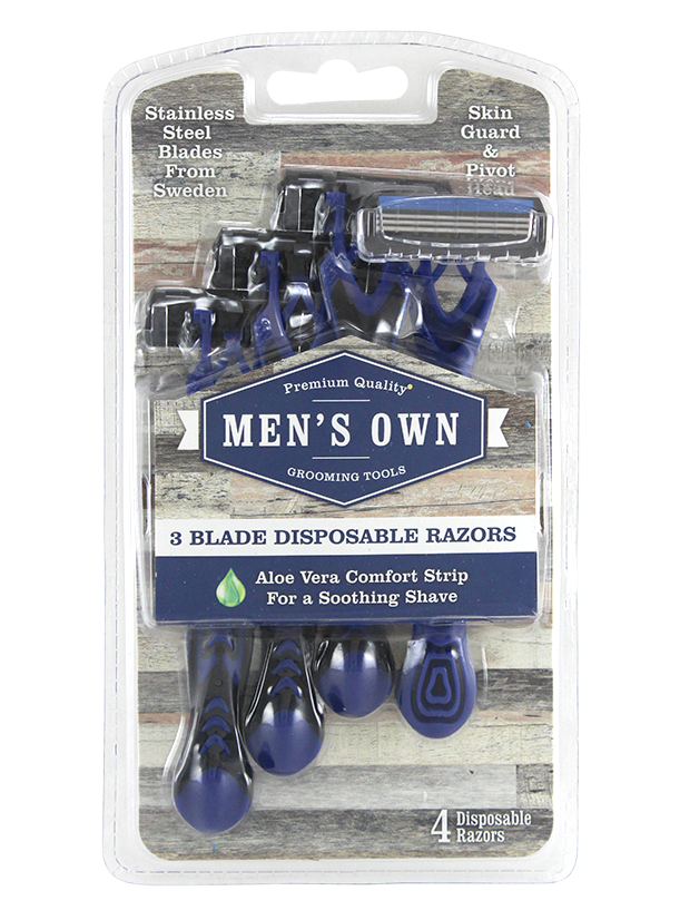 Men's Own 4pk Triple Blade Disposable Razors