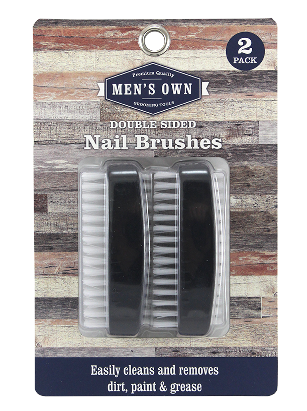 2PK DOUBLE NAIL BRUSH. BLACK