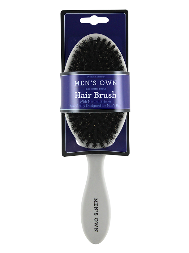 MEN'S SOFT TOUCH HAIR BRUSH. 100% BOAR BRISTLE