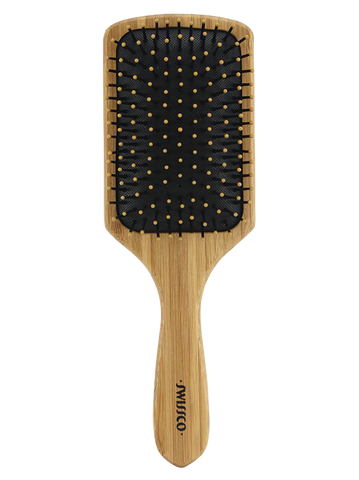 Bamboo Paddle Hair Brush Cushion Polypin