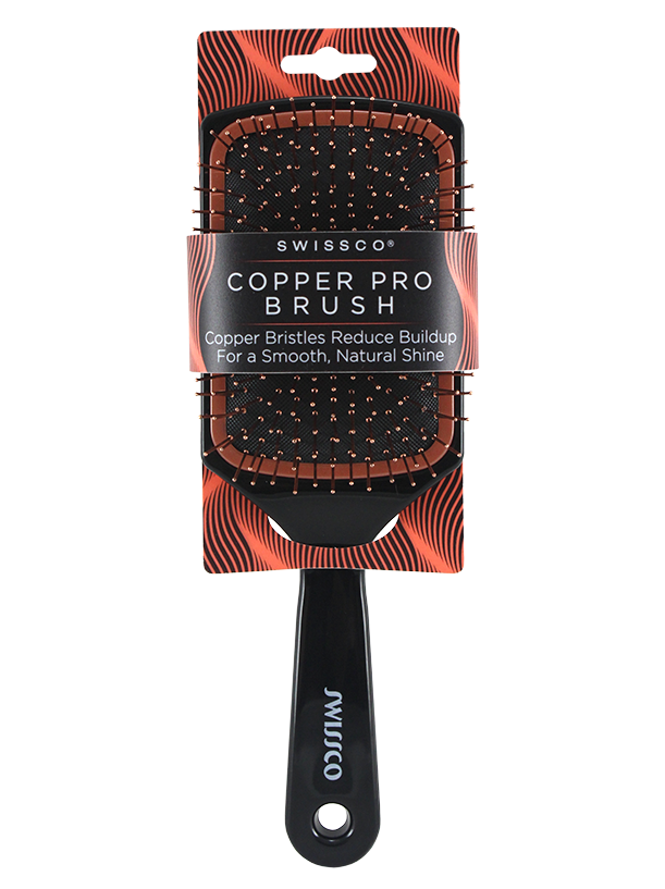 SWISSCO COPPER PRO PADDLE HAIR BRUSH
