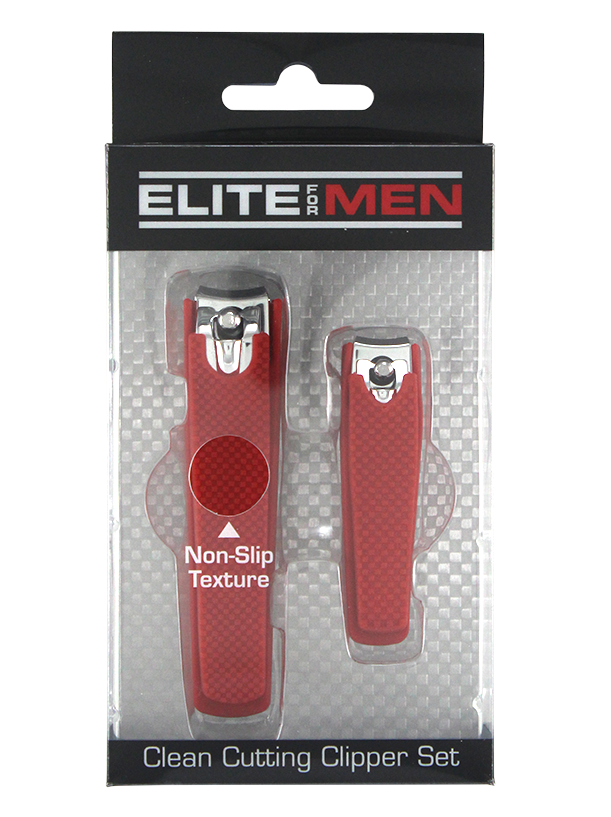 Men's 2pc Nail Clipper Set w/Soft Touch Grip