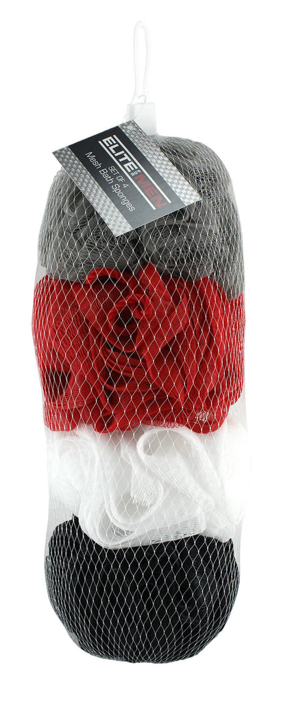Men's 4pc Mesh Sponge in Net Bag