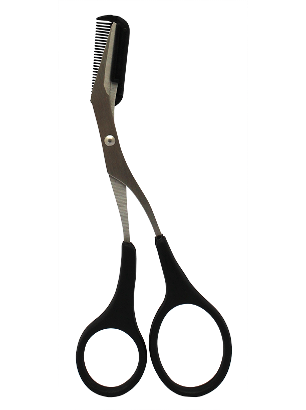 EYEBROW SHAPING SCISSORS BLACK HANDLE