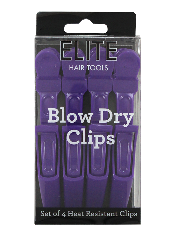 Elite 4 Pack Heat Resistant Blow Dry Clips