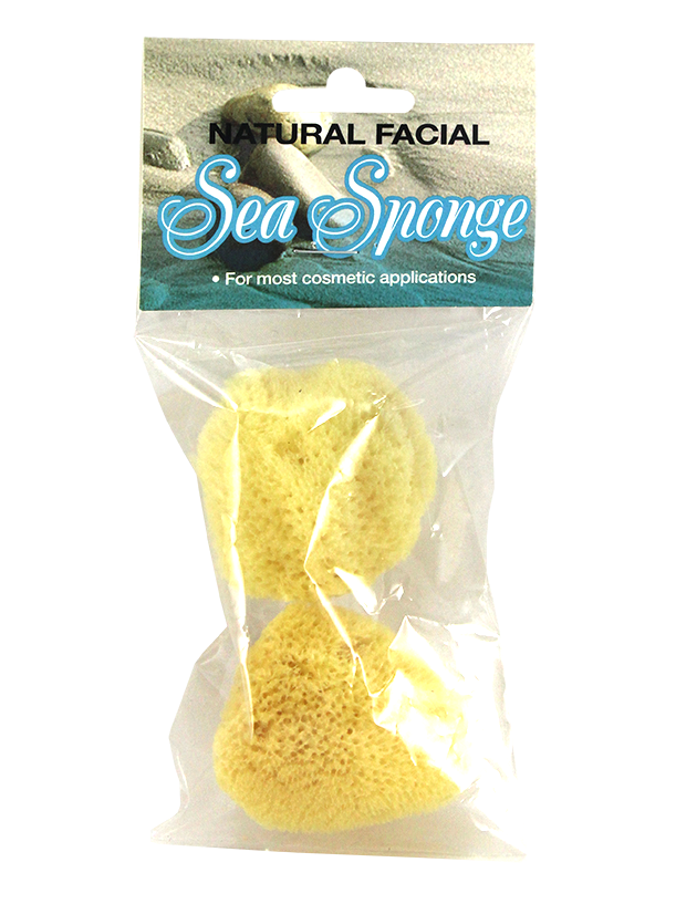 Natural Cosmetic Facial Sea Sponge 2 Pack