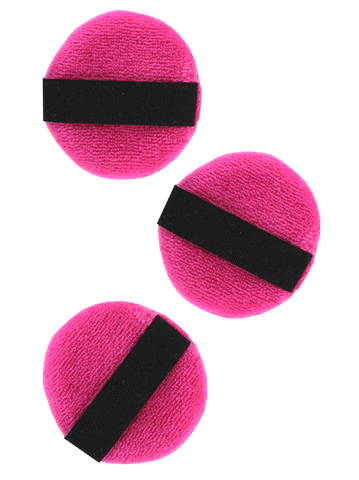Precision Beauty Velour Powder Puff 3-Pack