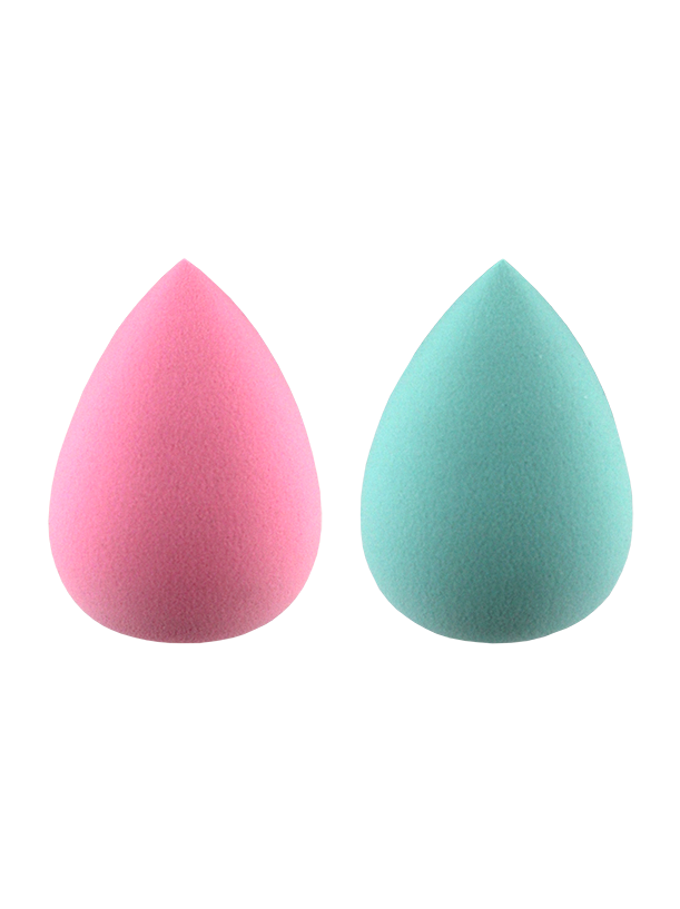 2PK TEAR-DROP VITAMIN E INFUSED SPONGE. PINK AND BLUE