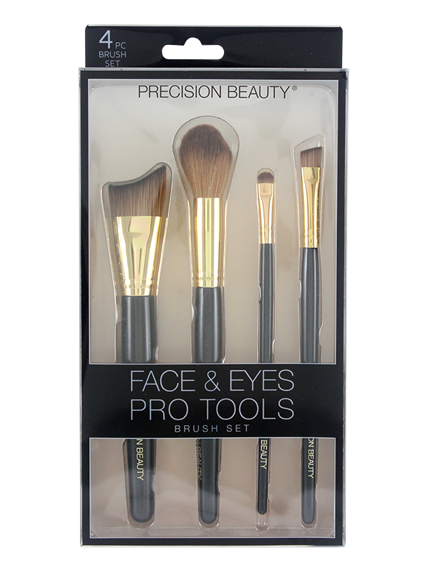 FACE & EYES PRO TOOLS MAKEUP BRUSH SET