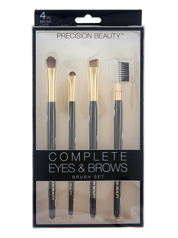 COMPLETE EYES & BROWS MAKEUP BRUSH SET