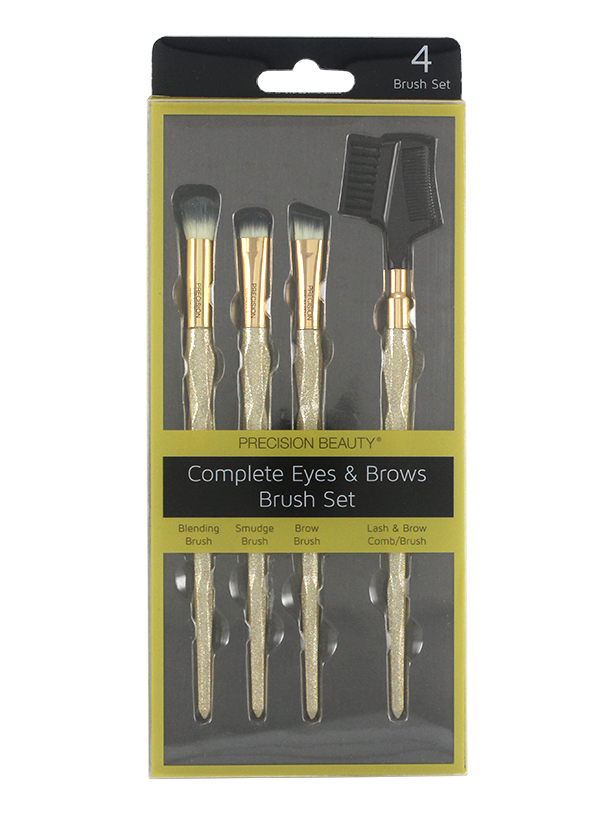 COMPLETE EYES & BROW BRUSH SET 4PCS