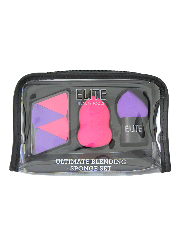 Elite Blending Sponge Gift Set. in Cosmetic Bag