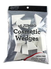 Elite Cosmetic Jumbo Wedges Non Latex 16 Count
