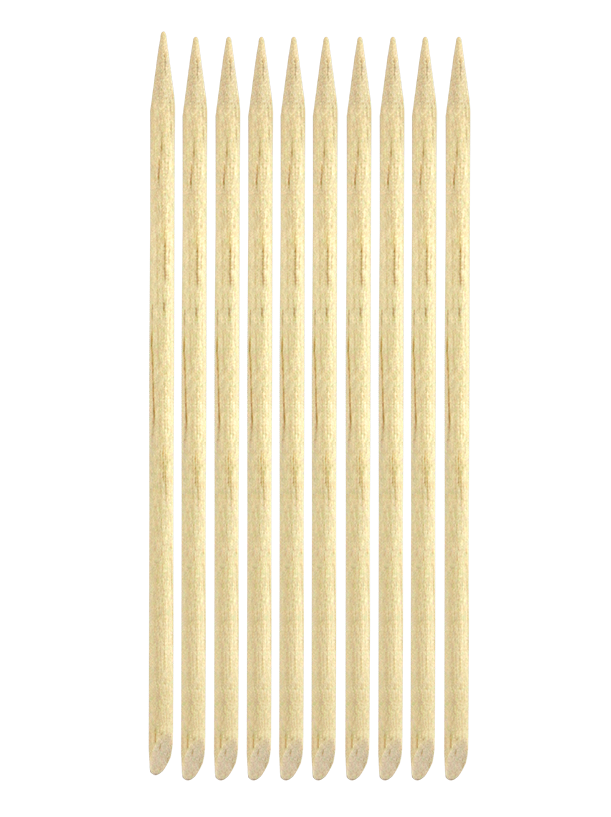 Elite Wooden Manicure Sticks 11.5CM 10 Pack