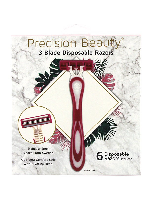 6PK TRIPLE BLADE DISPOSABLE RAZORS