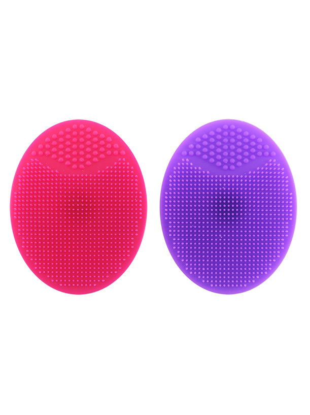 Precision Beauty 2 Pack Silicone Face Scrubbers. Pink & Purple