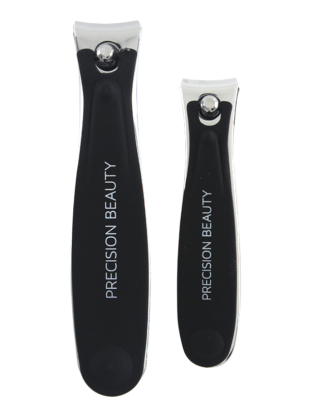 PRO 2PC NAIL CLIPPER SET W/ SOFT TOUCH GRIP