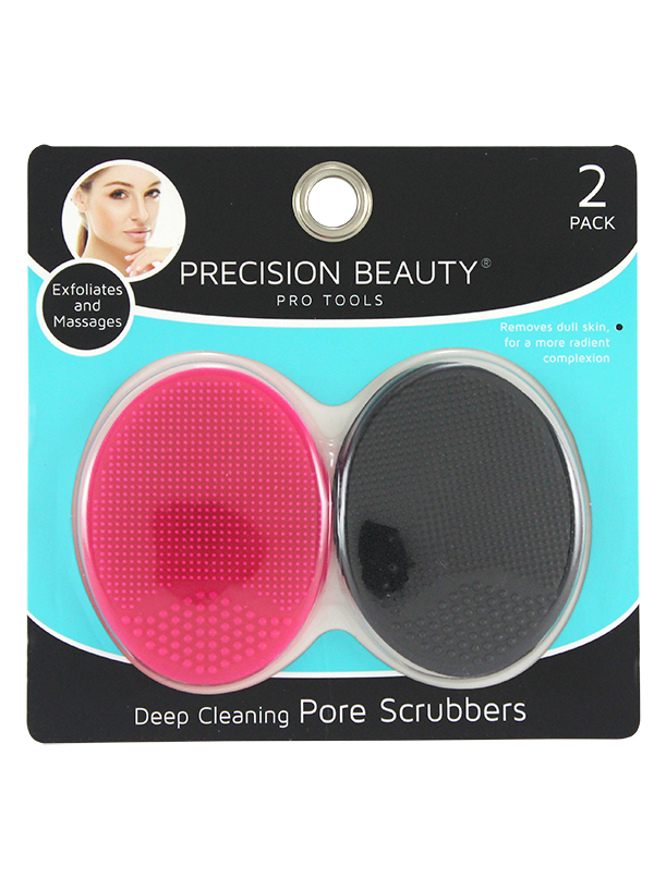 Precision Beauty 2 Pack Silicone Face Scrubbers. Pink