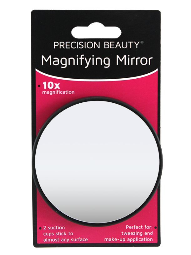 "Precision Beauty Suction Cup Mirror 31/2"", 10X Black"