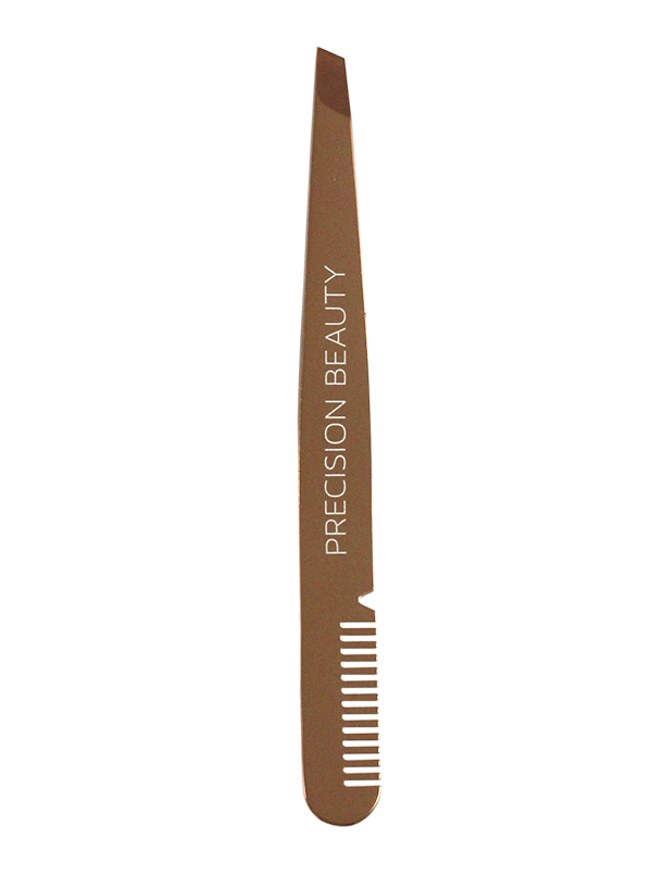 Rose Gold Collection Metallic Slanted Tweezer & Eyebrow Comb