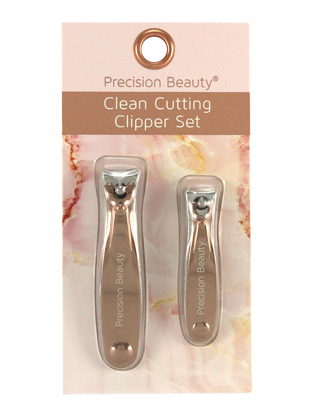 2PC NAIL CLIPPER SET. MARBLE