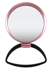 Hanging / Standing Mirror 1X/5X Black Handle, Matte Metallic Color Frame