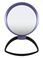 Hanging / Standing Mirror 1X/5X Black Handle, Matte Metallic Color Frame.