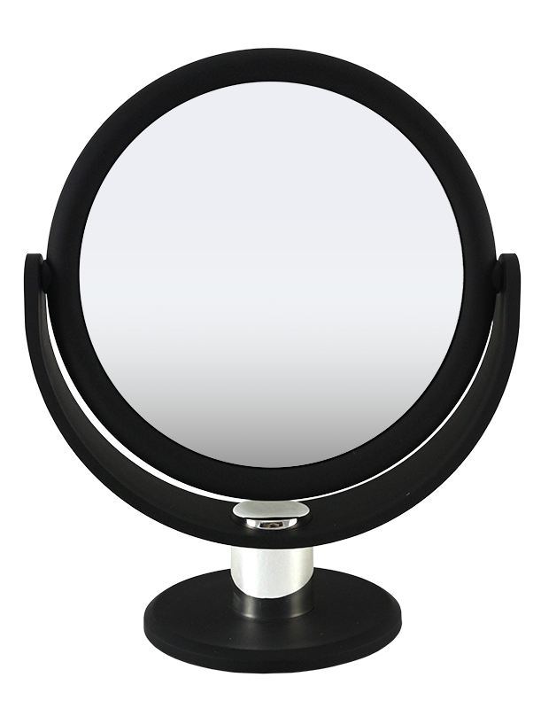 Soft Touch Large Round Standing Mirror 1X/10X