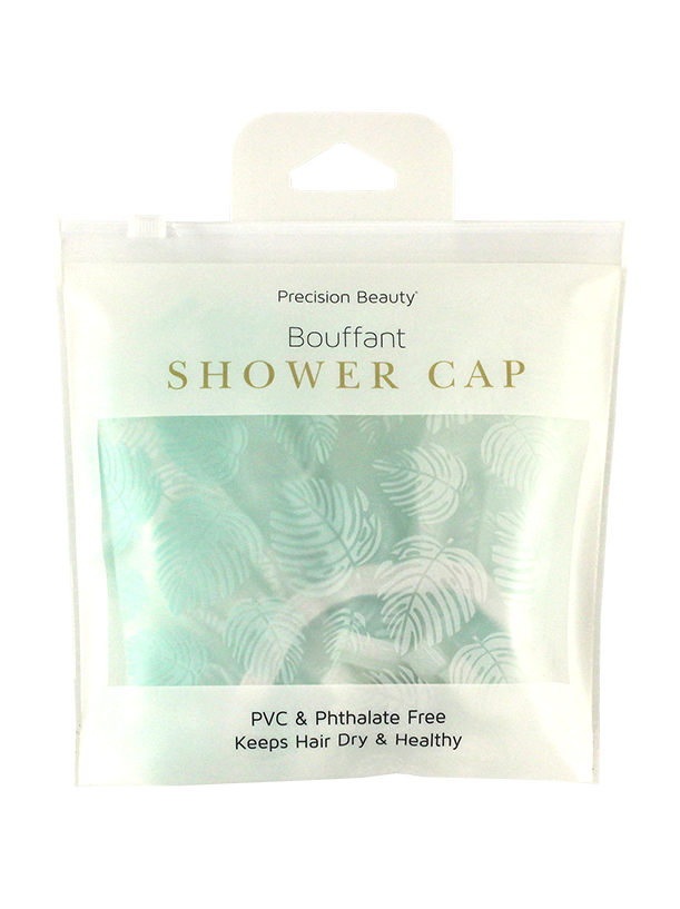BOUFFANT SHOWER CAP PALMS PRINT